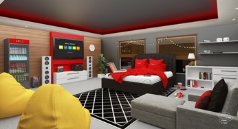 Netflix themed bedroom