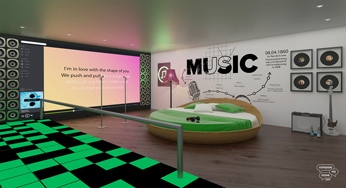 Spotify themed bedroom