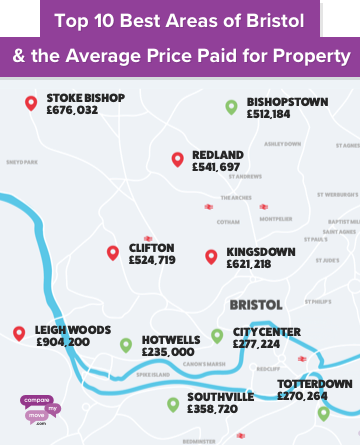 Map of Bristol House Prices