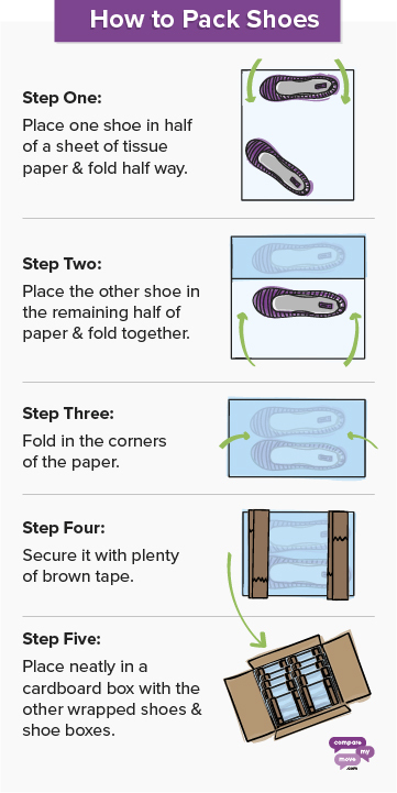 How to pack shoes