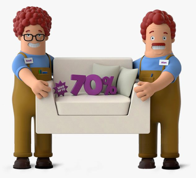 Save up to 70% off home removals